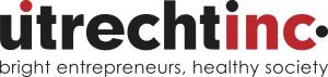 UtrechtInc logo: bright entrepreneurs, healthy society